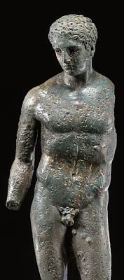Antique Nudes Sculpture - Athlete by Roman School