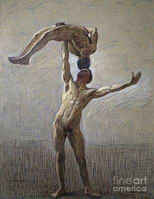 Balancing Painting - Athletes by Eugene Jansson