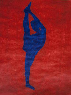 Dancer Painting - Standing Splits Ebony Nude Silhouette by Stormm Bradshaw