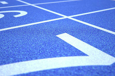 Competing Digital Art - Athletics Track Startline by Allan Swart