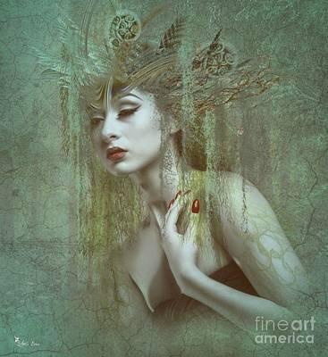 Digital Art - Athyrium The Lady Fern by Ali Oppy