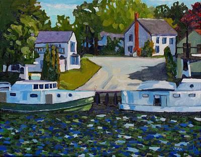 Beaver Lake Painting - Atigamayg And Evalina by Phil Chadwick