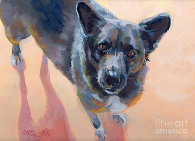Cattle Dog Painting - Atira by Kimberly Santini