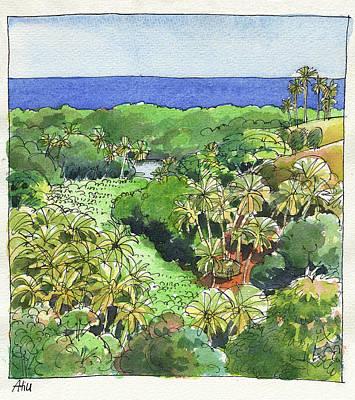 Painting - Atiu Lake View by Judith Kunzle