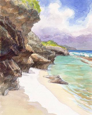 Painting - Atiu, Taungaroro Landing by Judith Kunzle