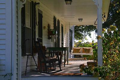 Photograph - Atkinson House Porch by Kathryn Meyer
