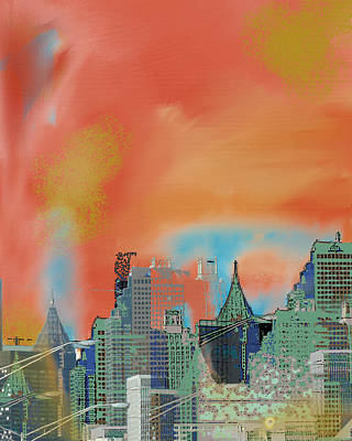 Atlanta Abstract After The Tornado Art Print