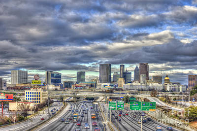 Photograph - Atlanta Art South Looking North Skyline  by Reid Callaway