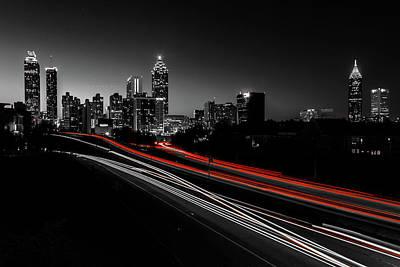 Atlanta Black And White Art Print