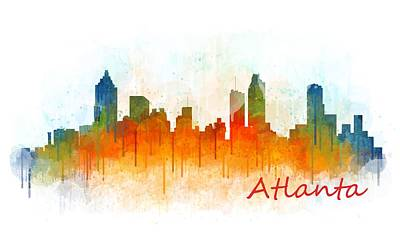 Cityscape Painting - Atlanta City Skyline Hq V3 by HQ Photo