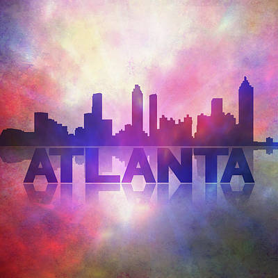 Painting - Atlanta City Skyline by Lilia D