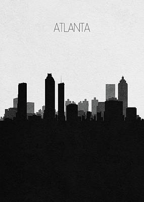 Digital Art - Atlanta Cityscape Art by Inspirowl Design