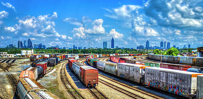 Photograph - Atlanta Cityscape Train Park Art by Reid Callaway