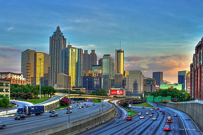 Atlanta Coca-cola Sunset Reflections Art Art Print