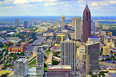 Daytime Mixed Media - Atlanta Daytime by Garland Johnson