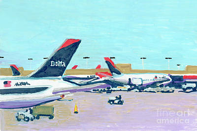 Painting - Atlanta Delta Planes by Candace Lovely