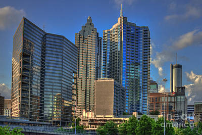 Photograph - Atlanta Downtown Skyline Reflections by Reid Callaway