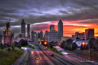 Photograph - Atlanta Downtown Sunset Art by Reid Callaway