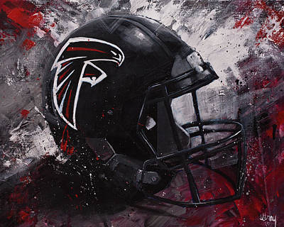 Painting - Atlanta Falcons Football Wall Art Falcons Fan Gift by Gray Artus