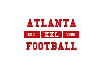 Atlanta Falcons Wall Art - Photograph - Atlanta Falcons Retro Shirt 2 by Joe Hamilton