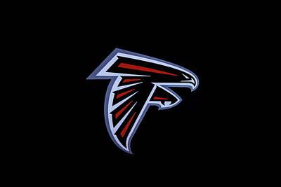Photograph - Atlanta Falcons Team Logo Art by Reid Callaway