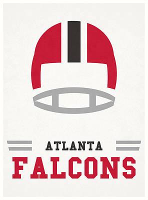 Atlanta Falcons Wall Art - Mixed Media - Atlanta Falcons Vintage Nfl Art by Joe Hamilton