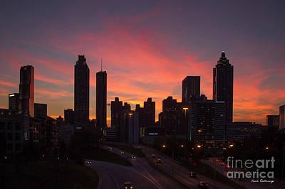 Photograph - Atlanta Fire Downtown Cityscape Art by Reid Callaway