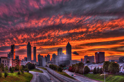 Photograph - Atlanta Flaming Sunset by Reid Callaway