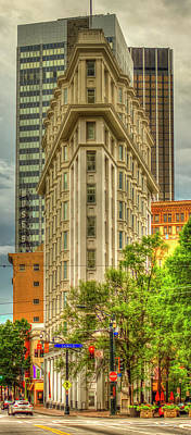 Photograph - Atlanta Flatiron Building The English-american Building Art Flatiron Architectur by Reid Callaway