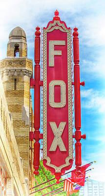 Steamboat Photograph - Atlanta - Fox Theatre Sign #9 by Stephen Stookey