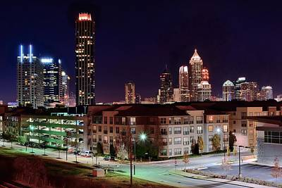 Photograph - Atlanta From Above by Frozen in Time Fine Art Photography