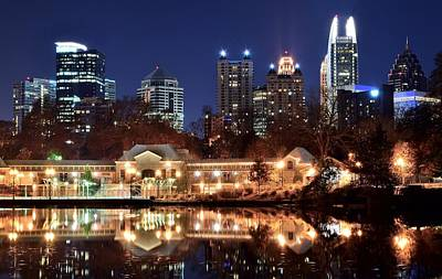 Atlanta From Piedmont Park 2 Art Print by Frozen in Time Fine Art Photography