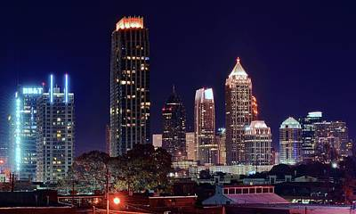 Photograph - Atlanta Georgia Late At Night by Frozen in Time Fine Art Photography
