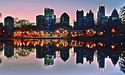 Photograph - Atlanta Georgia Pano Sunset by Frozen in Time Fine Art Photography