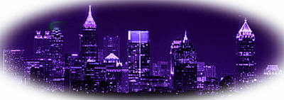 Digital Art - Atlanta Georgia Skyline by Rod Jellison