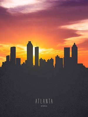 Atlanta Georgia Sunset Skyline 01 Art Print