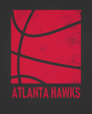 Hawk Mixed Media - Atlanta Hawks City Poster Art 2 by Joe Hamilton