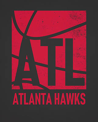 Hawk Mixed Media - Atlanta Hawks City Poster Art by Joe Hamilton