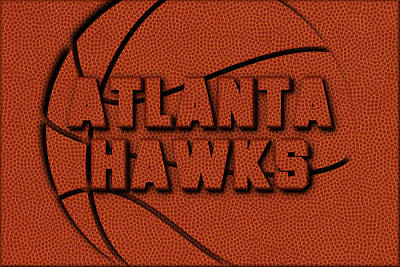 Atlanta Hawks Photograph - Atlanta Hawks Leather Art by Joe Hamilton