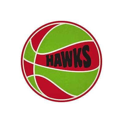 Atlanta Hawks Retro Shirt Art Print by Joe Hamilton