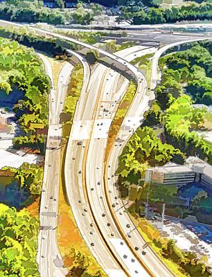 Atlanta Highways Art Print