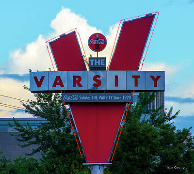 Photograph - Atlanta Landmark Sign The Varsity Art by Reid Callaway