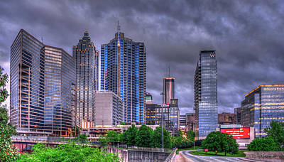 Photograph - Atlanta Let It Rain Atlanta Cityscape Art by Reid Callaway