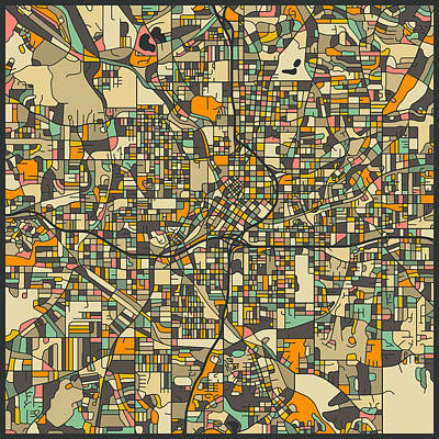 Atlanta Photograph - Atlanta Map by Jazzberry Blue