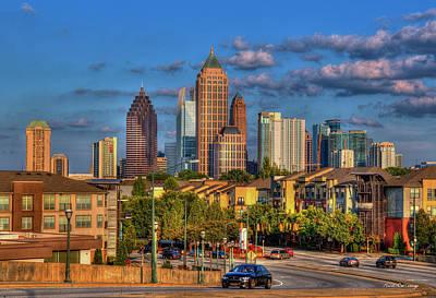 Photograph - Atlanta Midtown Atlantic Station Art  by Reid Callaway