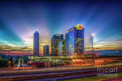 Photograph - Atlanta Midtown Atlantic Station Starburst Atllanta Georgia Art by Reid Callaway