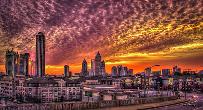 Atlanta Midtown Atlantic Station Sunrise Art Print by Reid Callaway
