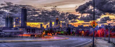 Photograph - Atlanta Midtown Panorama Atlanta Autumn Sunrise Art by Reid Callaway