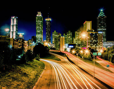 Photograph - Atlanta Never Sleeps by Andy Crawford