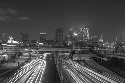 Photograph - Atlanta Night Lights 2 by Reid Callaway
